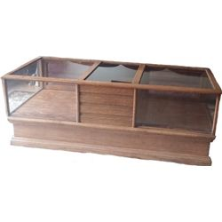 Antique oak cigar store display case counter
