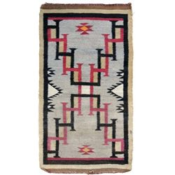 Navajo small single saddle textile weaving,