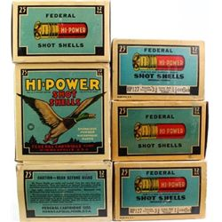 6 full correct boxes 12 ga. High Power Federal