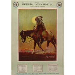 Original 1915 calendar advertiser for Round