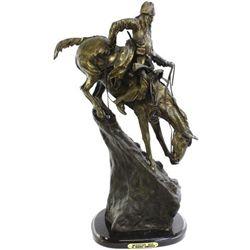 """Mountain Man"" contemporary bronze by Frederick"