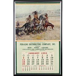 1953 advertising calendar for Peraldo Distributing