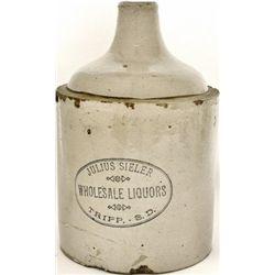 Scarce Julius Sieler Wholesale Liquors jug