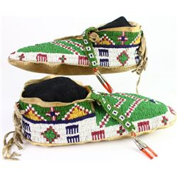 C. 1880's-1890's fully beaded Sioux moccasins