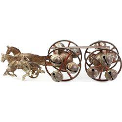 Victorian 2 horse 4 wheel jingle chime