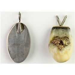 Collection of 2 includes elk ivory pendant