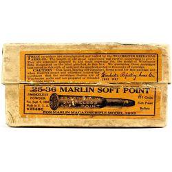 Winchester 25-36 Marlin ammo box