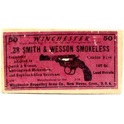 Winchester 38 S&W Smokeless full ammo.