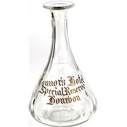 Antique back bar bottle from the Connors Hotel,