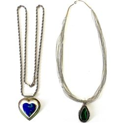 Collection of 2 necklaces includes sterling