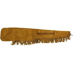 New unused Winchester fringed leather scabbard