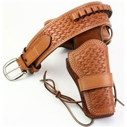 Near new leather buscadero holster rig