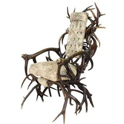 Outstanding 19th C. antler chair