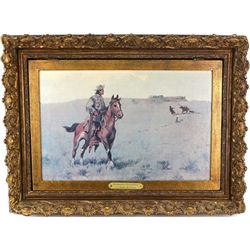 1970's double framed reproduction Russell print