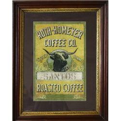 Roth-Homeyer Coffee Co. Steer Brand print