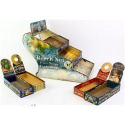 Vintage counter top display tin litho Beech Nut