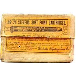Winchester 25-25 Stevens empty ammo box.