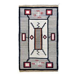 Navajo Storm pattern textile weaving,