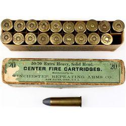 Winchester 50-70 full correct ammo.