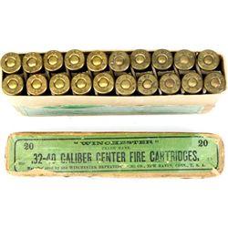 Winchester 32-40 full correct ammo.