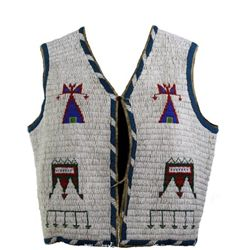 Fine C. 1880-1890's Sioux fully beaded vest