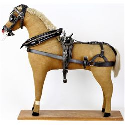 Early harness makers display horse