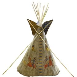 Rare C. 1880-1890  Plains Pictograph Childs Teepee