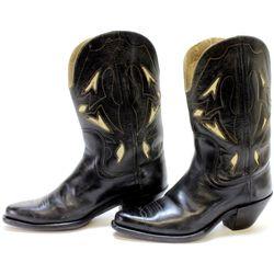 Vintage pair of Kirkendall black cowboy boots