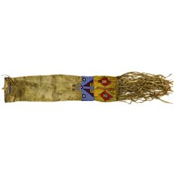 C. 1880-1890's beaded Plains pipe bag