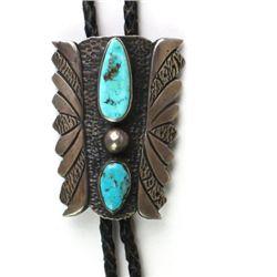 Vintage Navajo sterling silver bolo tie