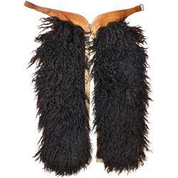 Fine pair Visalia black woolie chaps