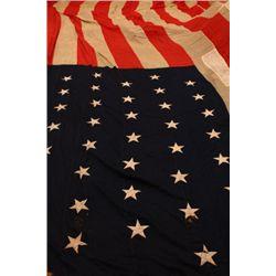Huge 15'X 24' -44 star American flag 1891-1896