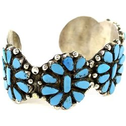 Zuni sterling and turquoise bracelet,