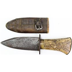 Early dag style shortened bowie knife