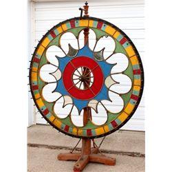 Large impressive antique gambling wheel