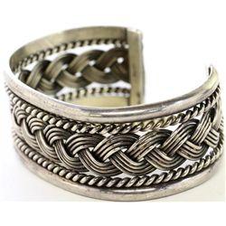 Nicely accomplished Navajo bracelet in sterling