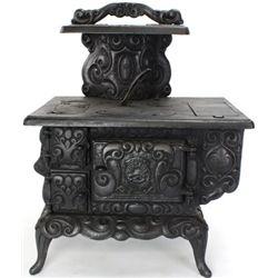 Miniature cast iron kitchen stove