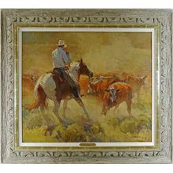 """Jordan Valley Action"" original oil on canvas"