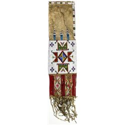 C. 1890's Sioux beaded and quill pipe bag