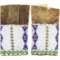 C. 1870's Sioux beaded legging on native tanned