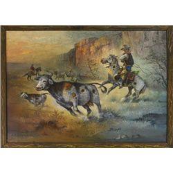 The Maverick  oil on canvas by North Dakota