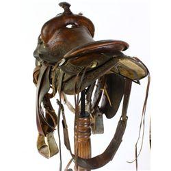 Duhamel stamped saddle Rapid City SD No. 505