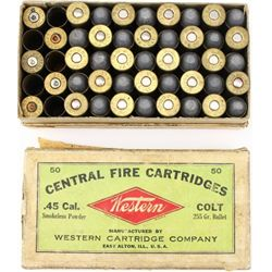 Western 45 Colt ammo with 10 empties.