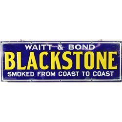 Antique enamel sign for Blackstone Tobacco