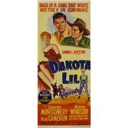 Excellent restored Dakota Lil movie poster