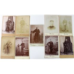 Collection of 9 original cabinet cards all