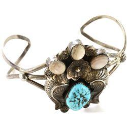 Navajo sterling silver bracelet set with