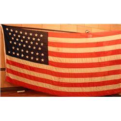 Large 7' X 14' - 44 star American flag 1891-1896