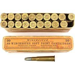 Full correct Winchester 33 WCF ammo.