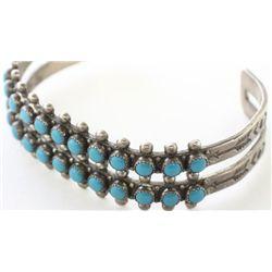 Navajo bracelet sterling silver set with 24